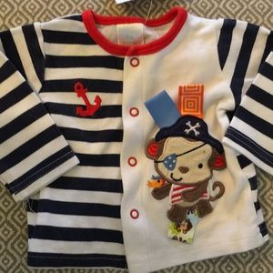 Other - Pirate Monkey Button Up